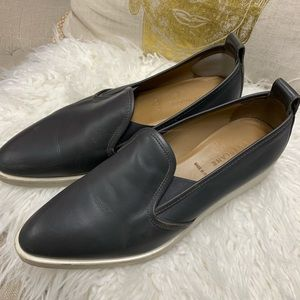 Everlane Gray Leather Pointed Sneaker/Loafer